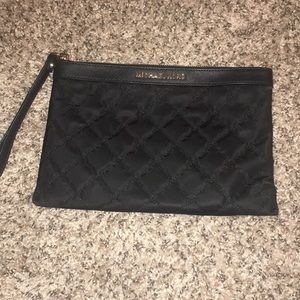 Michael Kors Cloth Quilted Clutch Wristlet